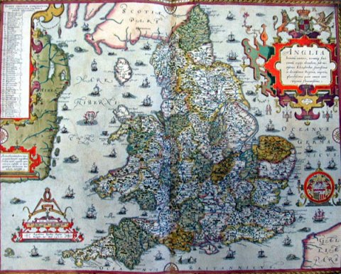 MAP Christopher Sexton's Anglia (1579)