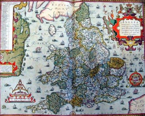 MAP Christopher Sexton's Anglia (1579)